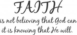 Faith Is ..